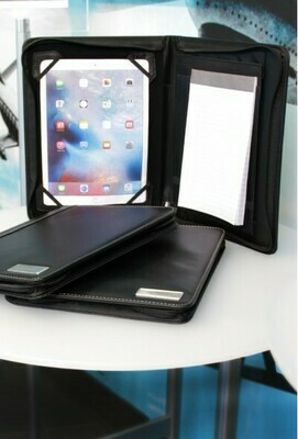 Zippered iPad Padfolio