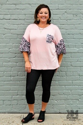 Pink Leopard Top