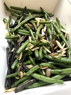 Ginger Green Beans w/ Almonds and herb soysace