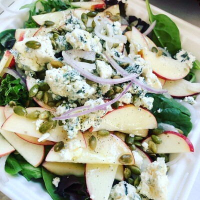 Local Apple and BlueCheese Salad