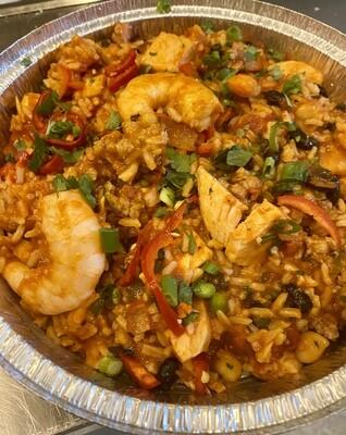 Shrimp, Sausage, & Pulled Pork Jambalaya
