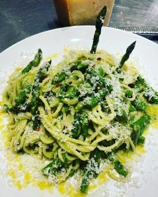 Asparagus Parmesan Pesto Pasta