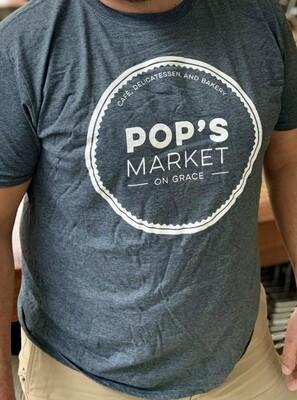 Pop's T Shirt Gray Medium