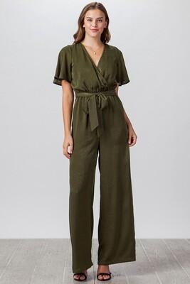 Olive Shine Jumpsuit