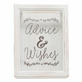 Mud Pie Advice & Wishes Keepsake Box