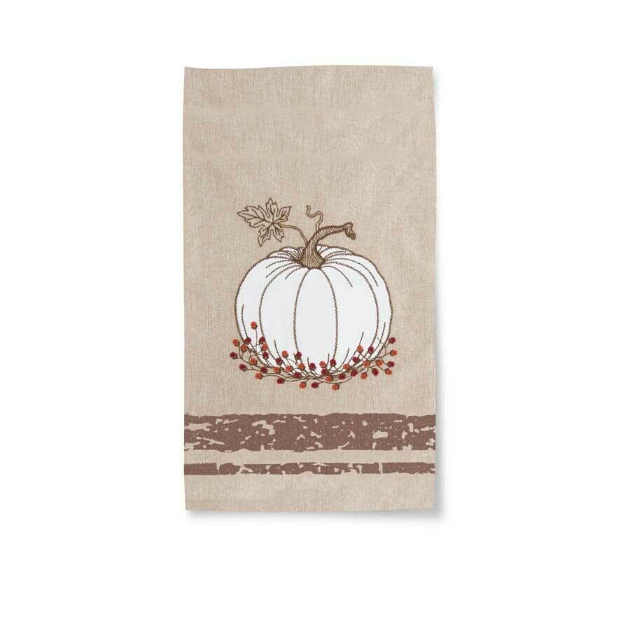 KKI Towel w/ Embr Pumpkin