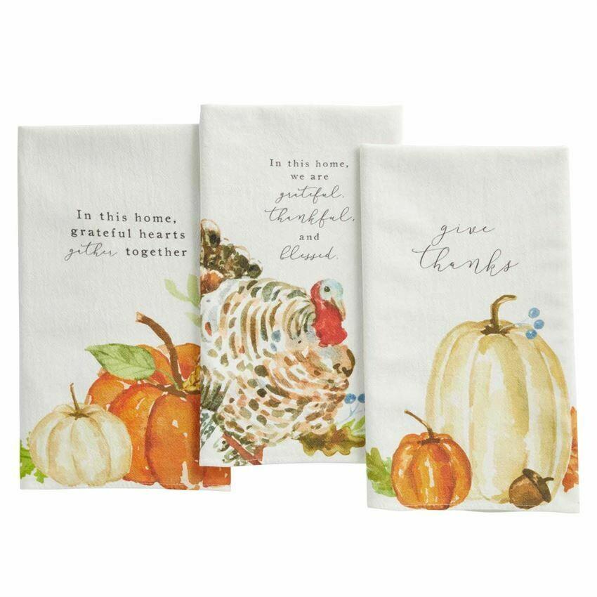 Fall Watercolor Towels