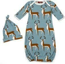 Milk Barn Newborn Hat & Gown Set