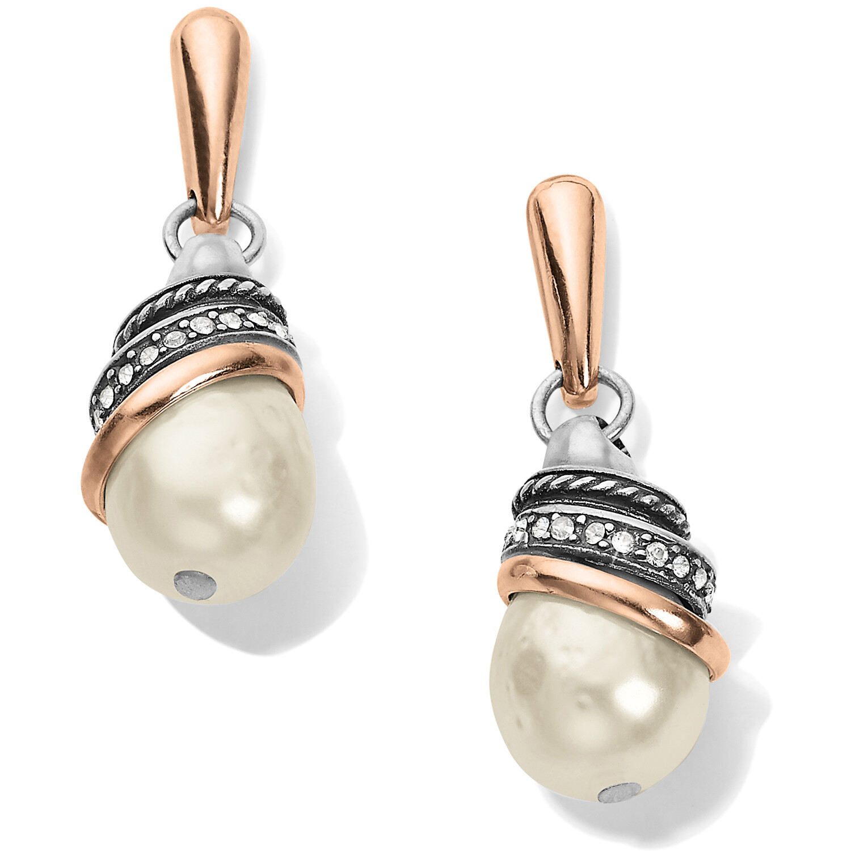 Neptune's Rings Pearl Teardrop Earrings