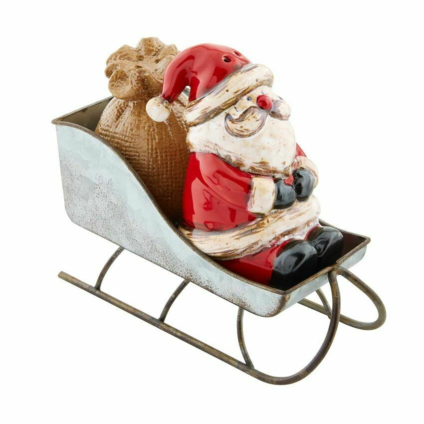 Santa Sleigh Salt & Pepper Shakers