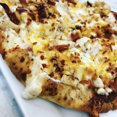 Chicken Bacon Ranch Flatbread Pizza
