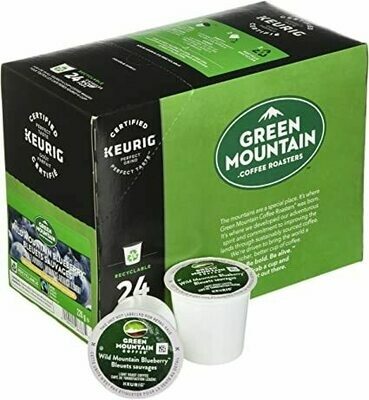 Green Mountain Coffee Wild Mountain Blueberry, Flavored, Light Roast Coffee, 24 Count