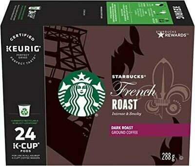 Starbucks French Roast, K-Cup for Keurig Brewers, 24 Count