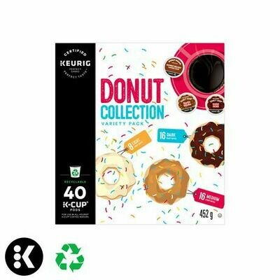 Keurig Hot Donut Collection Variety Box K-Cups