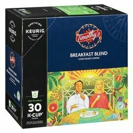 Timothy's K-Cup Breakfast Blend Coffee Pods (30 Count)