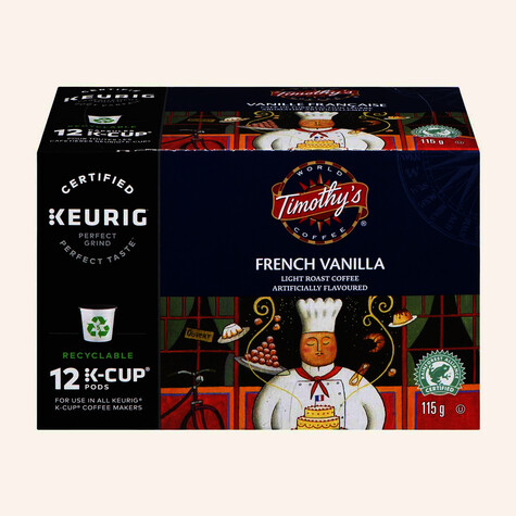 Timothy's French Vanilla Coffee (12 Count)