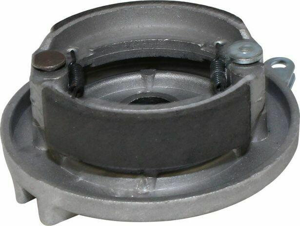 Brake Hub - Drum Brake Backing Plate & Brake Shoes, Right Side