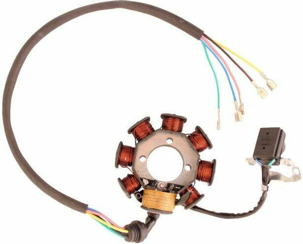 Stator - Magneto Coil, 125cc to 250cc, CG8, 5 wire (30A9200)