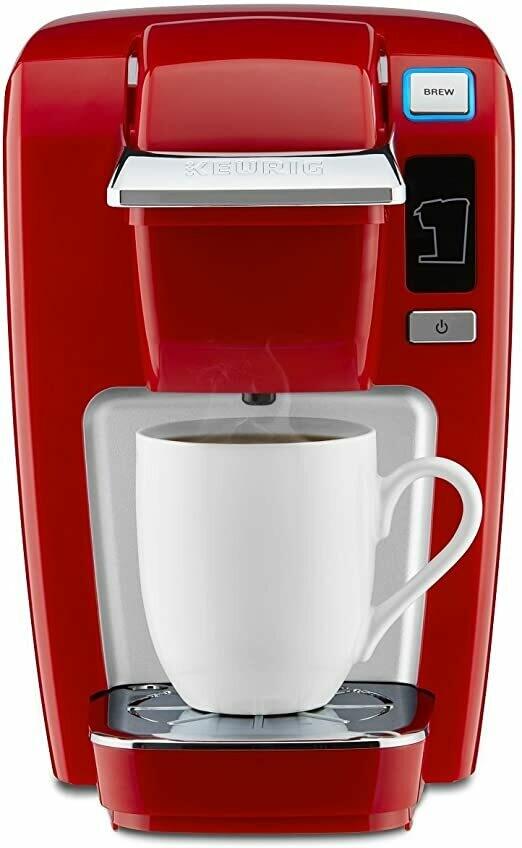 Keurig K-Mini K15 Single-Serve K-Cup Pod Coffee Maker - Chilli Red