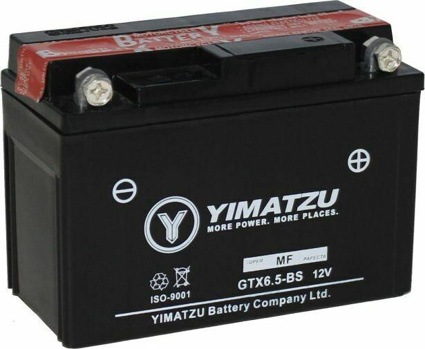 Battery - GTX6.5L-BS Yimatzu, AGM, Maintenance Free 10A3025