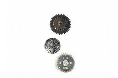 Airsoft Logic One Piece Hardened Steel CNC Gear Set - 14:1