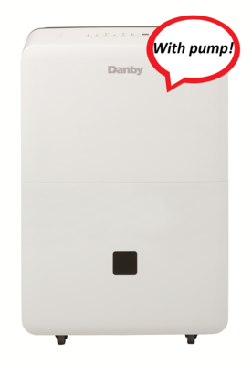 Danby 50 Pint DoE Dehumidifier with Pump DDR050BJPWDB