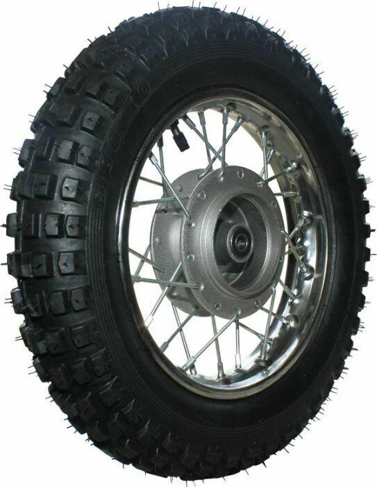 "Rim and Tire Set - Front 10"" Chrome Rim (1.40x10) with 3.00-10 Tire, Drum Brake 40D4103CR"
