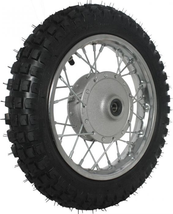 "Rim and Tire Set - Front 10"" Chrome Rim (1.40x10) with 2.50-10 Tire, Drum Brake 40D4112CR"