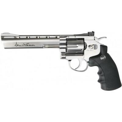 """Dan Wesson 6"""" Silver CO2 4.5mm BB Revolver"""