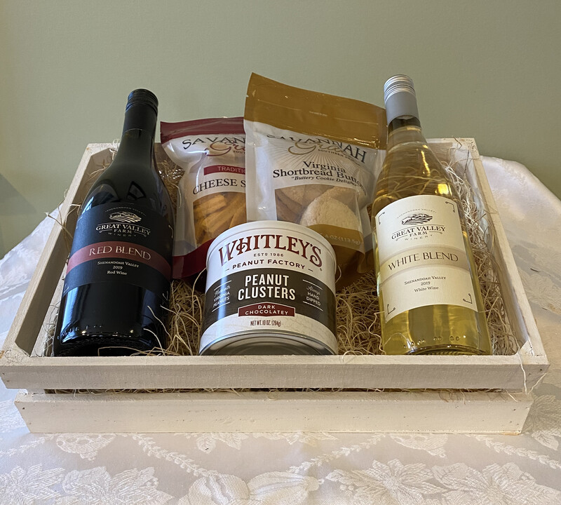 2-bottle White Crate