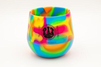 Pit Surf Shop Sili Wine Cup , Hippy Hop Tie Dye