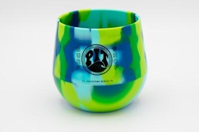 Pit Surf Shop Sili Wine Cup , Sea Swirl Tie Dye