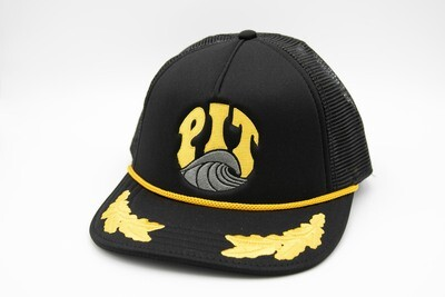 Pit Surf Shop Wings Trucker Hat , Black/Gold