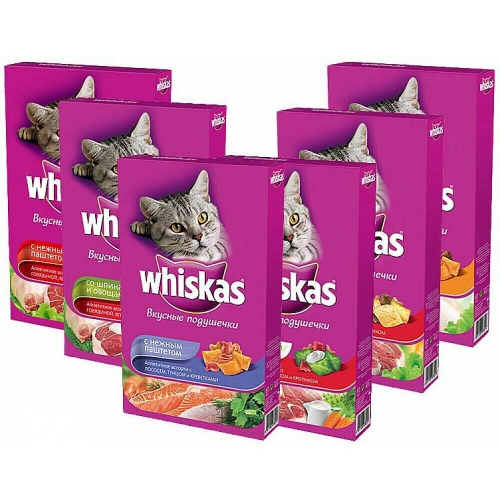 Корм для кошек Whiskas подушечки 350г