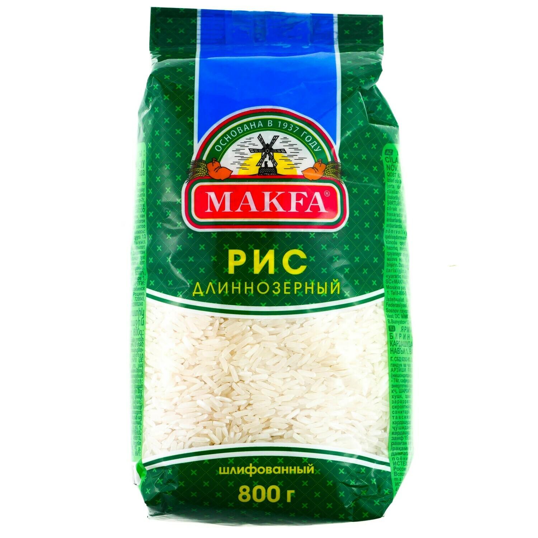 Крупа Макфа 800г рис длиннозерный