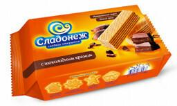 Вафли Сладонеж с шоколодным кремом 300гр