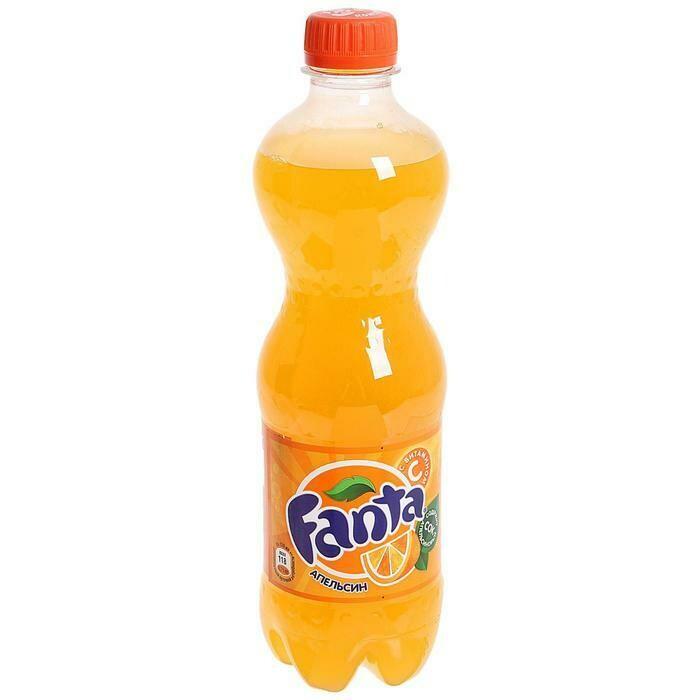 Газированная вода Fanta 0.5л апельсин