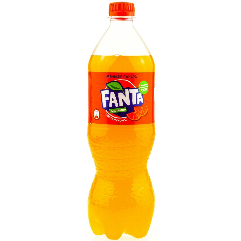 Газированная вода Fanta 0.9-1л апельсин
