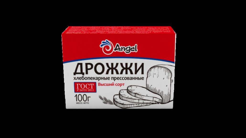 Дрожжи Ангел 100г пресованные