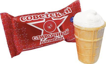 Пломбир Советский 100г стаканчик в ассортименте Славица