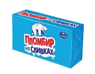 Мороженое пломбир на сливках брикет 250г Славица