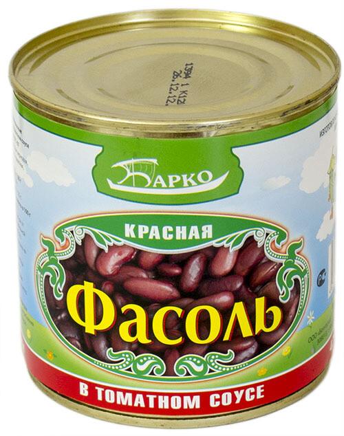 Фасоль красная в томатном соусе БАРКО 425гр
