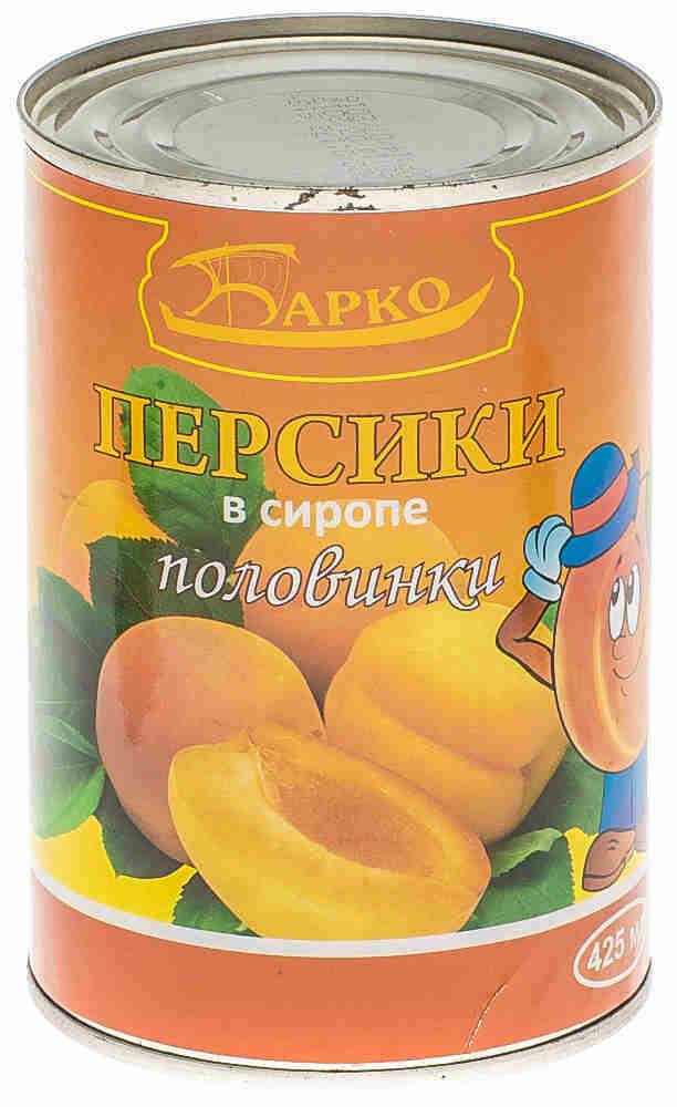 Персики половинки 425гр Барко