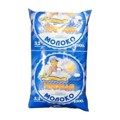 Молоко 3.2% 1л Нарада