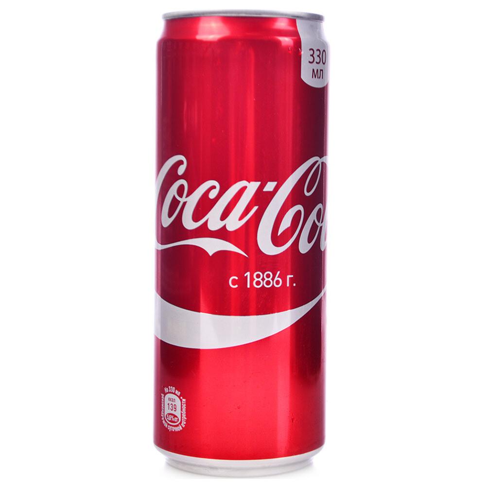 Газированная вода Кока кола 0.33л