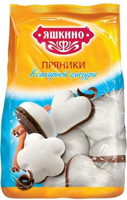 Пряники Яшкино 350г в сахарной и шоколадной глазури