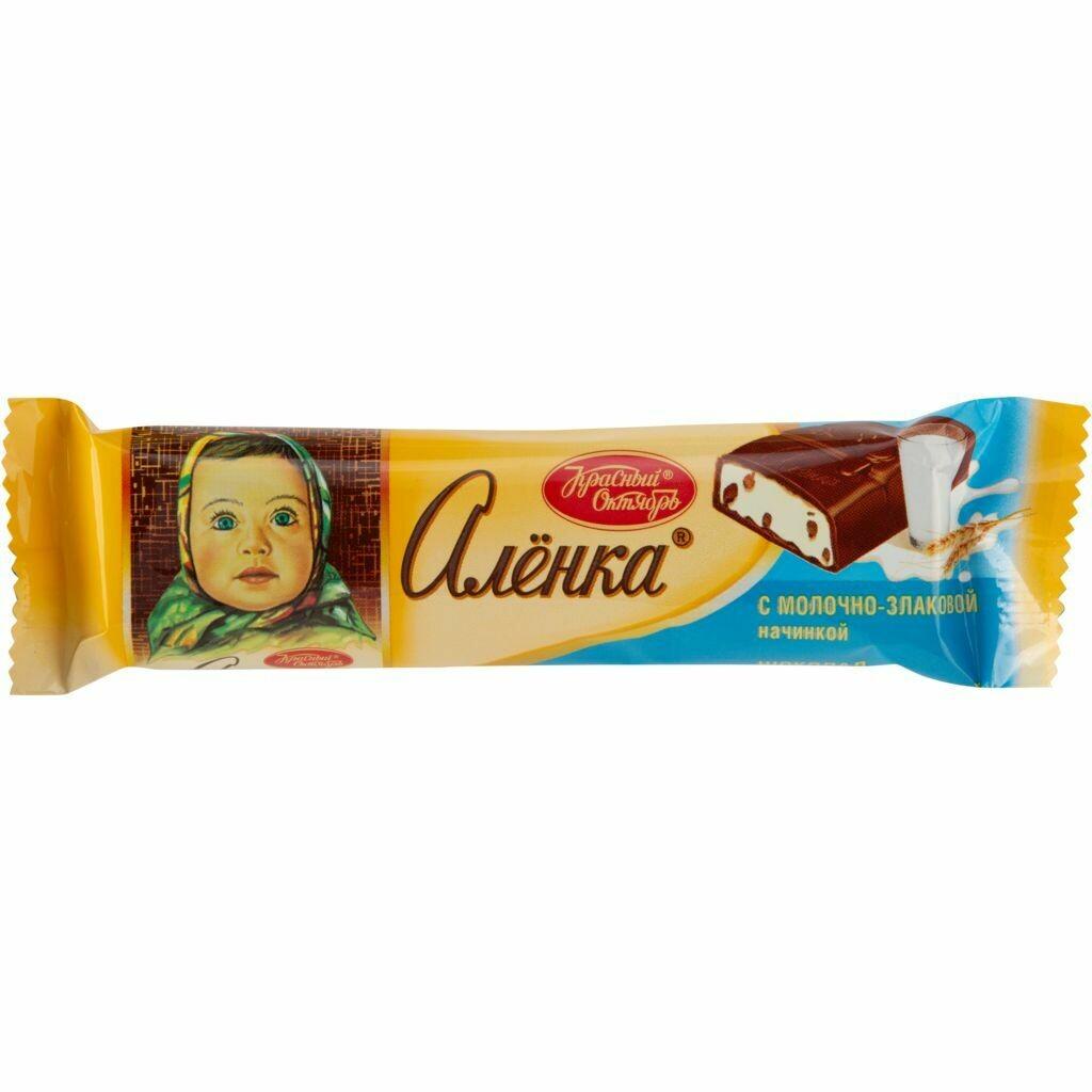 Шоколад АЛЕНКА с начинкой 45г Красный Октябрь
