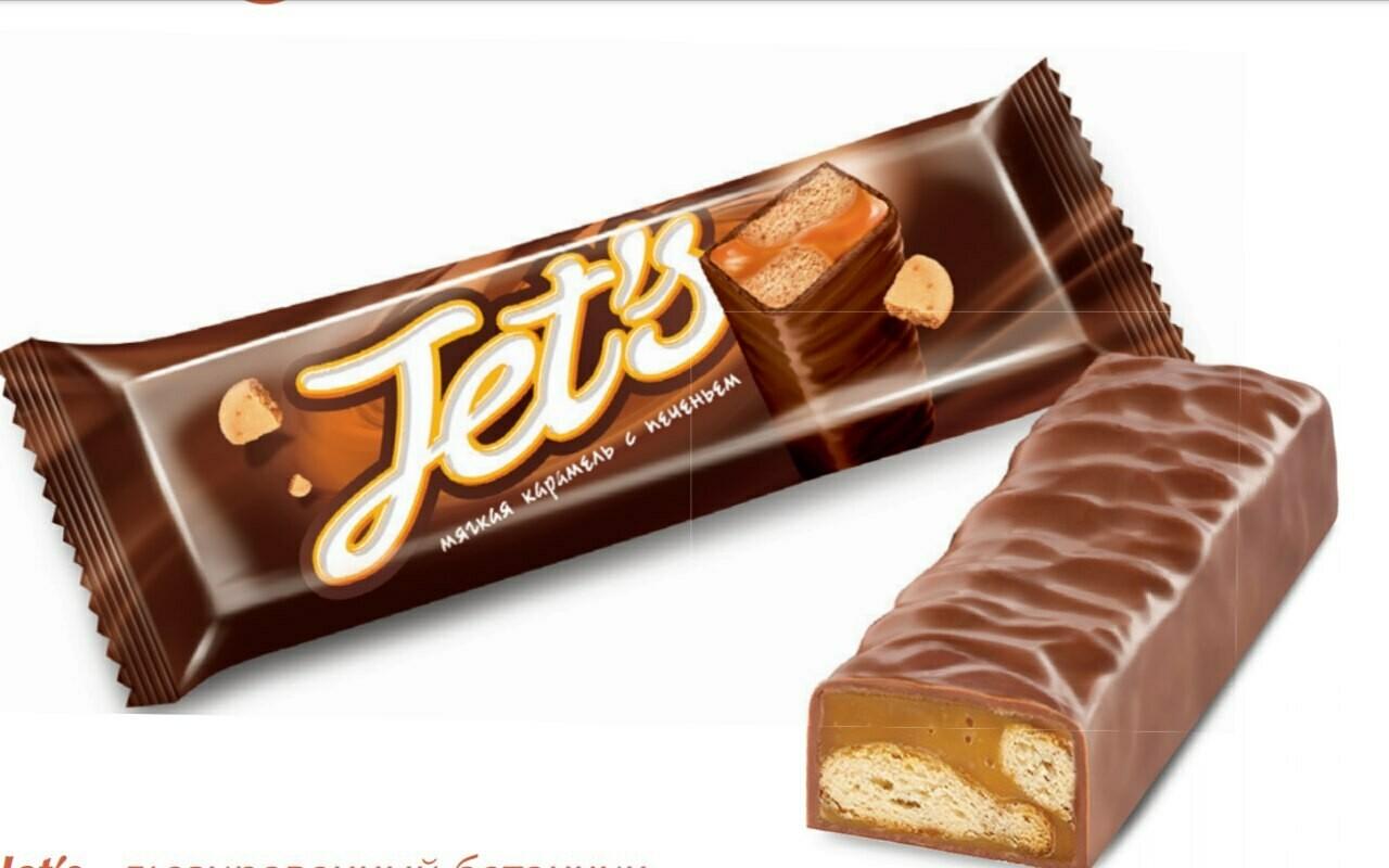 Конфета Джетс с печеньем 42г