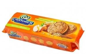 Печенье Овсяное с яблоком 275г Сладонеж