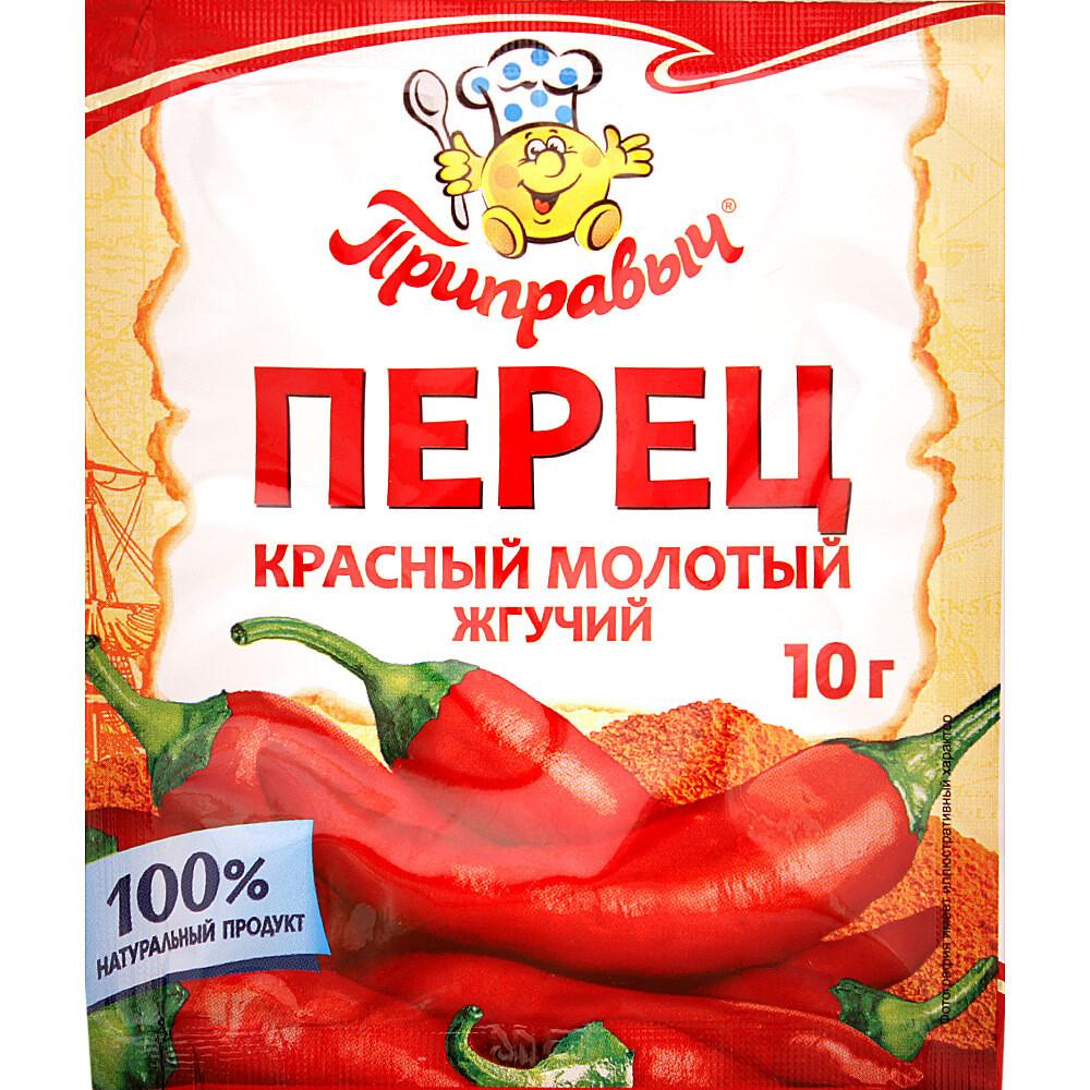 Перец красный молотый жгучий Приправыч 10г